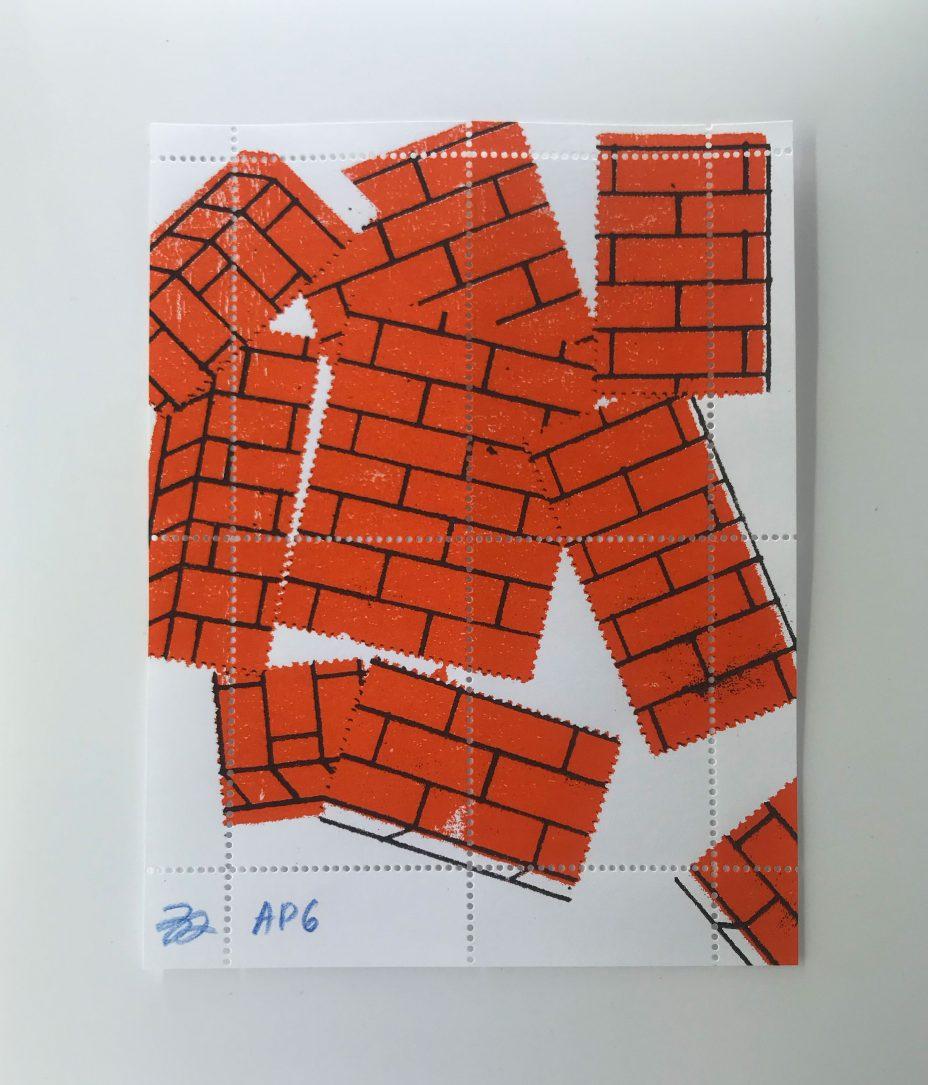 Bráulio Amado artist stamp
