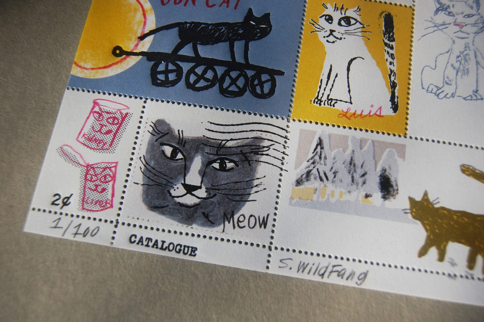 Sarah Wildfang artist stamp