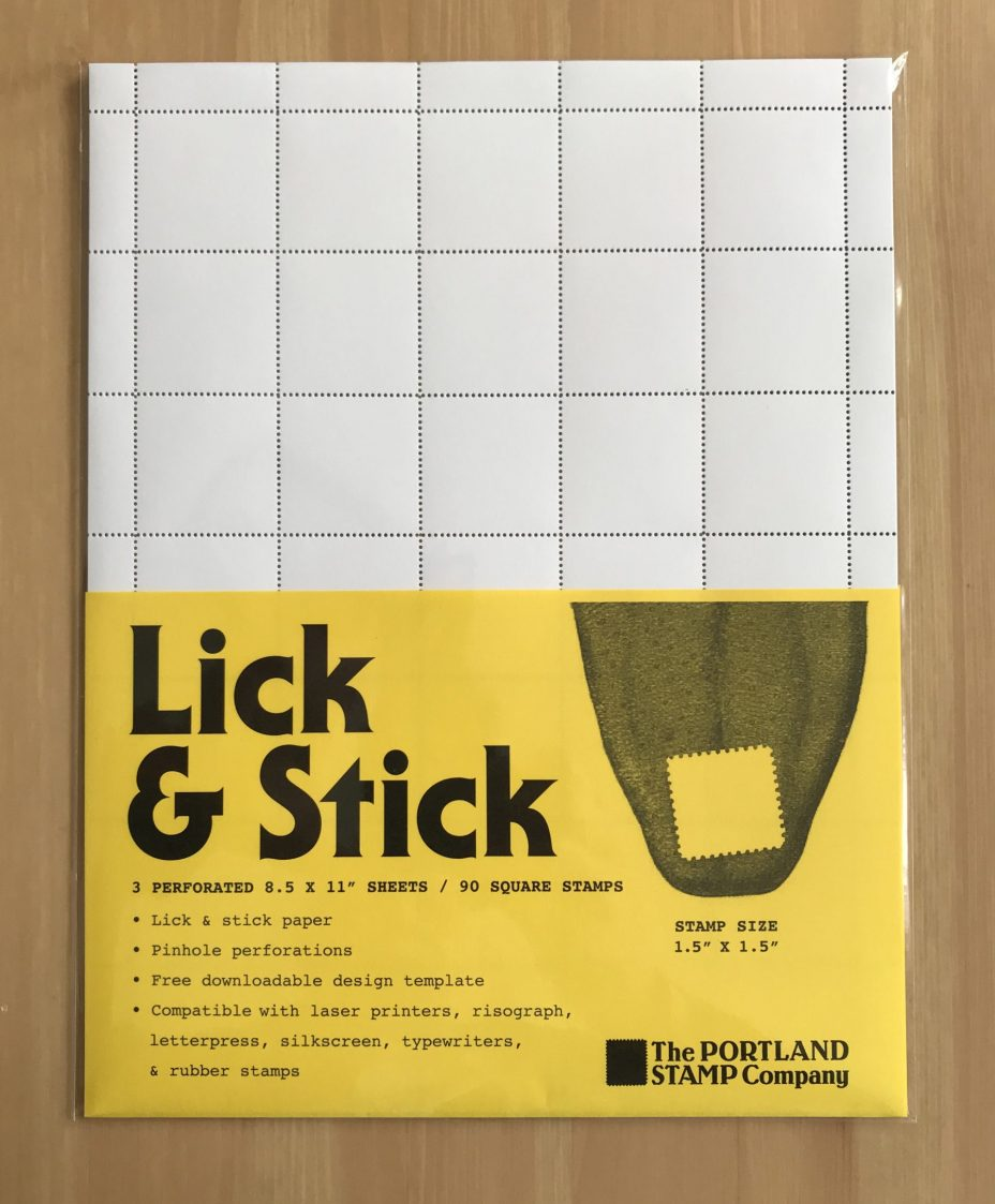 The Portland Stamp COmpany blank lick and stick sheets