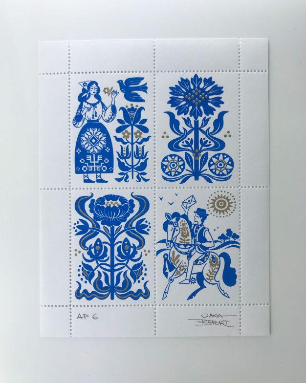 Oana Befort artist stamp no. 25