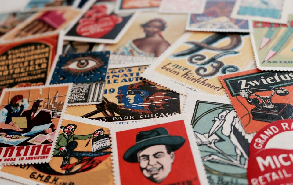 stamps pile