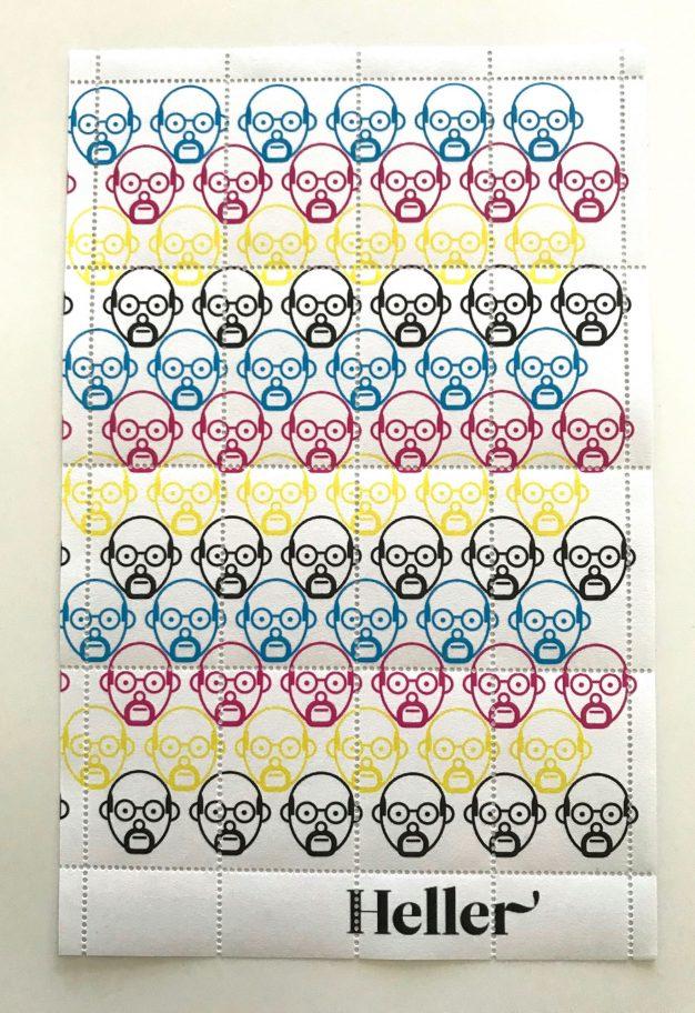 steven heller stamp sheet