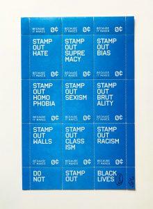 stamp out hate tre seals letterpress stamps