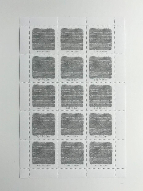close the camps stamps sarah horowitz full sheet