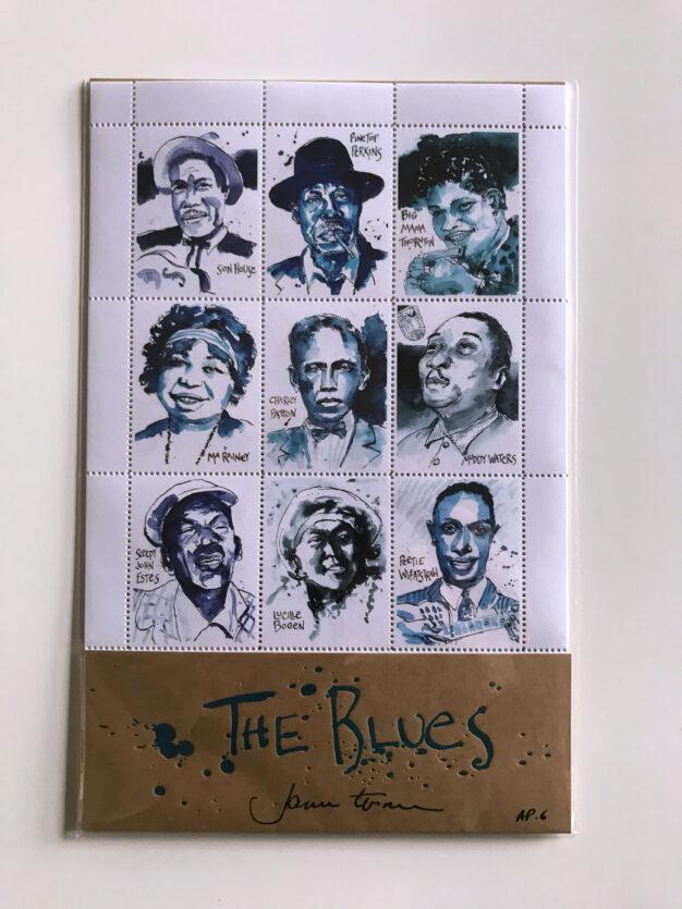 james terman the blues stamp portrait set