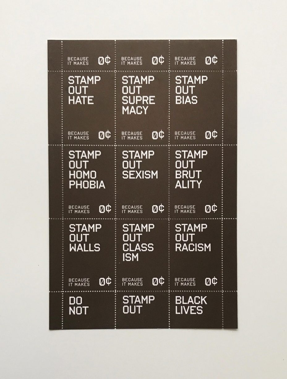 stamp out hate tre seals full sheet bronze